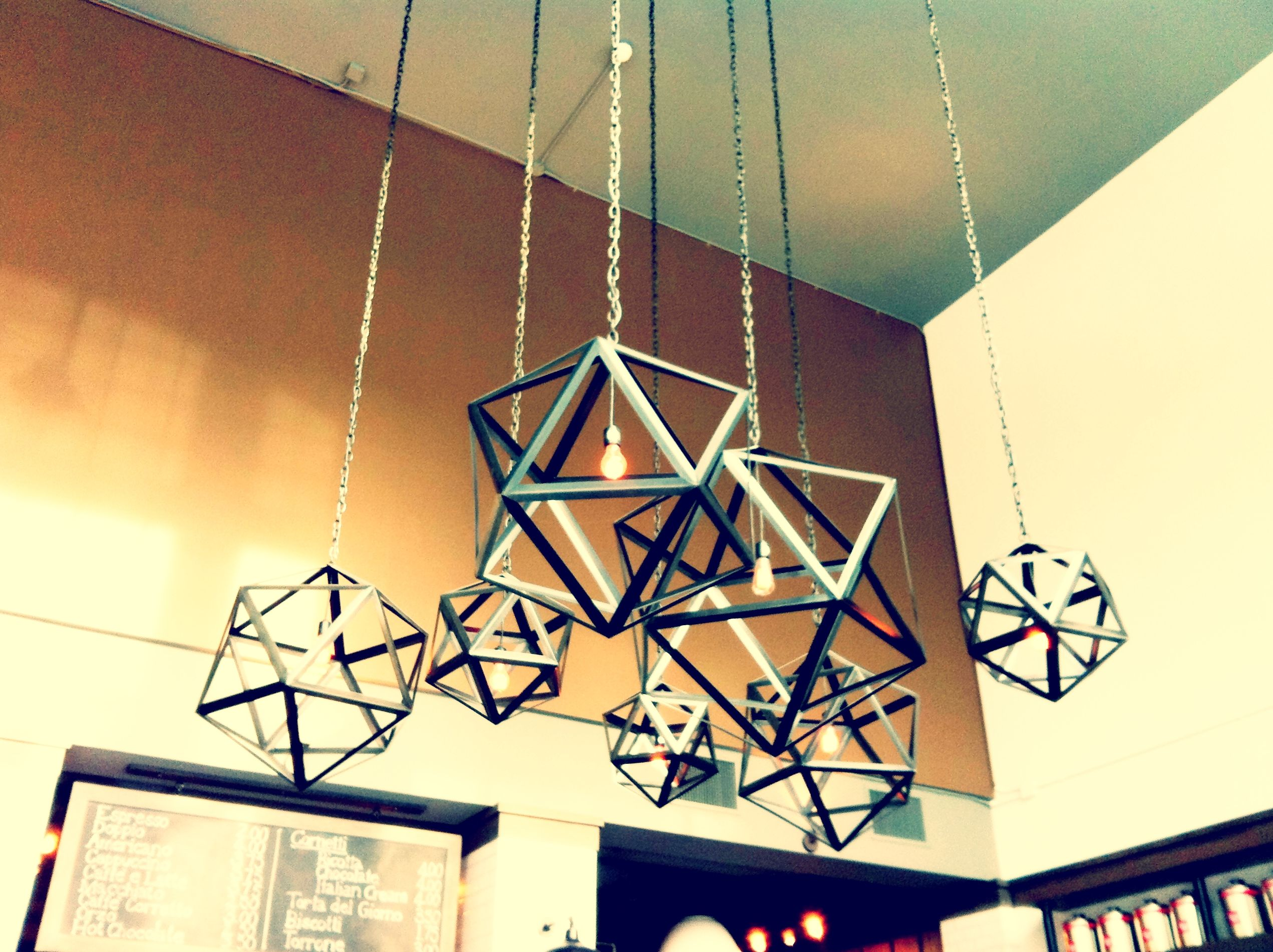 industrial geometric lighting fixtures