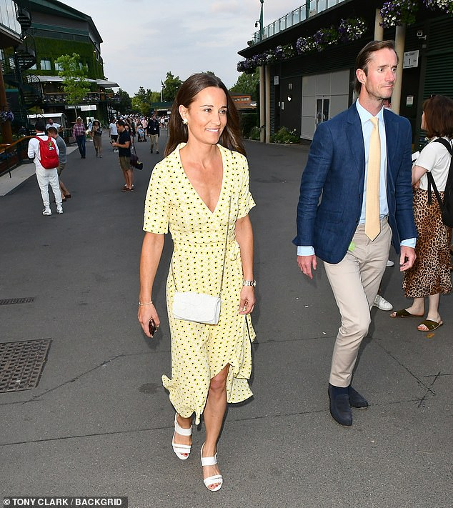 British style expert Shane Watson, shared advice for embracing the summer trend for wrap dresses. Pictured: Pippa Middleton in sunny yellow
