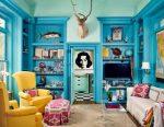 Серо голубой интерьер – 67 лучших вариантов, фото в интерьере