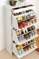 Тумбы для обуви в прихожую фото – узкая тумбочка с зеркалом, комод с несколькими ящиками, открытая угловая модель, пуфик с полками