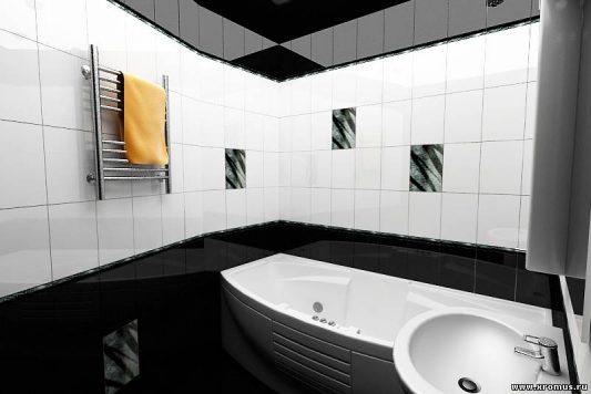 Дизайн ванной комнаты черно белой – Ванная в черно белом цвете фото дизайн