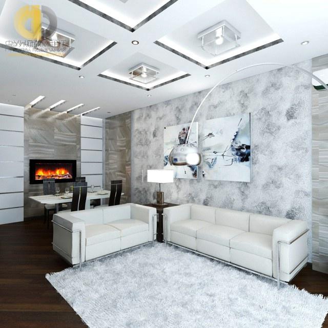 Камин в интерьере гостиной фото современный – Ой!