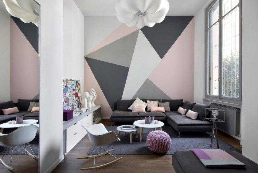 Комбинированные обои для гостиной фото в интерьере – Обои В Гостиную — 150+ (Фото) Интерьеров & Современных Идей