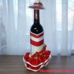 Украшение бутылки на день рождения женщине – Подарок подруге своими руками, украшаем бутылку вина Мастера hand-made