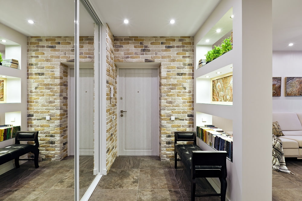 Рисунок на стене в прихожей – 80 фото в интерьере квартиры, современные примеры облицовки